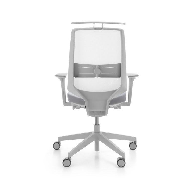 Kancelárska otočná stolička LightUp 250SFL siva