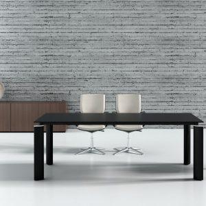 Riaditeľský nábytok Crystal - rokovací stôl - čierne prevedenie