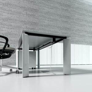 Nábytok pre riaditeľa Crystal - zostava - biele prevedenie