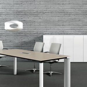 Nábytok Crystal - rokovací stôl a mediaport