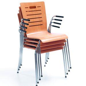 Jedálenska stolička Resso - stohovanie