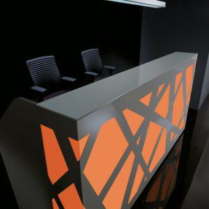 Kancelárska recepcia-Zig-Zag_cervena