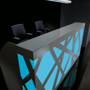 Kancelárska recepcia-Zig-Zag_modra