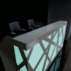 Kancelárska recepcia-Zig-Zag_zelena svetla