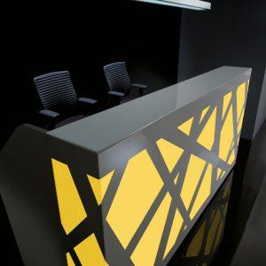 Kancelárska recepcia-Zig-Zag_zlta
