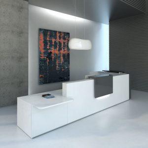 Kancelarska recepcia-TERA_biela_grafit
