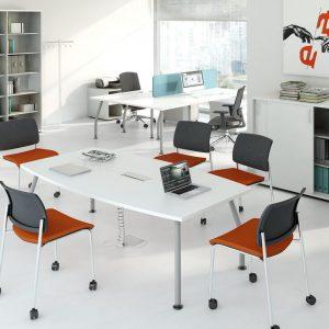 Kancelarske stoly_ALFA-rokovacia zostava so skrinkami