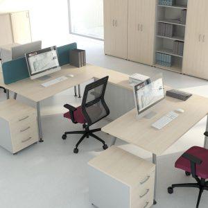 Kancelarske stoly_ALFA-zostava skrinkami a kontajnermi