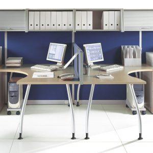 Kancelarske stoly_ALFA-zostava so skrinkami a kontajnerom