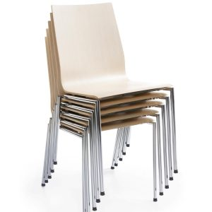 Konferenčná jedálenska stolička Sensi - stohovanie