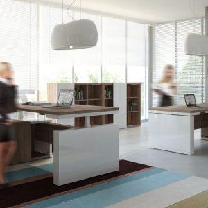 Kancelárska zostava MITO - výškovo nastaviteľný stôl