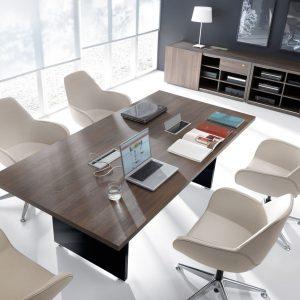 Kancelársky rokovací stôl MITO s mediaboxmi pre 6 osôb