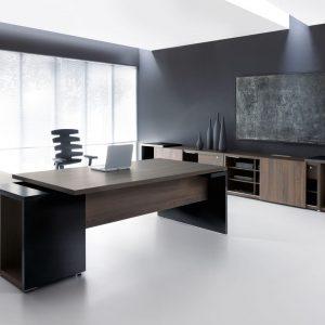 Zostava nábytku pre manažérov MITO v tmavom prevedení