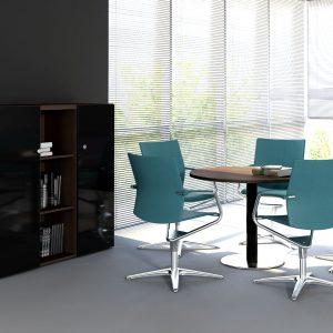 Malý rokovací stôl MITO - priemer 120cm pre 4-5 osôb.